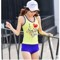新款分体泳衣女保守显瘦沙滩运动泳装小胸聚拢瑜伽健身跑步 可礼品卡支付