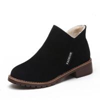 雪地靴女2019新款百搭韩版网红靴子女短靴秋冬平底短筒加绒棉鞋