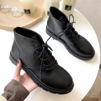 马丁靴2019年新款秋季显瘦短款女靴子潮ins网红小短靴春秋单靴鞋 37 女款