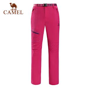 camel骆驼户外速干长裤 春夏女款快干耐磨透气时尚速干裤