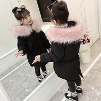 女童棉衣冬季棉袄中长款外套小女孩冬装