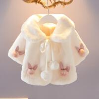 女宝宝外套春秋公主婴儿衣服小童毛毛女童洋气冬装