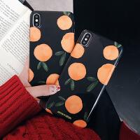 水果橙子苹果x手机壳iphone xs max保护套8plus软硅胶iPhone6s防摔7p网红ip