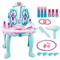 儿童化妆品公主彩妆盒玩具女孩化妆台 女童玩具2345岁过家家梳妆台