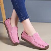 流行女鞋大码套脚反绒皮厚底妈妈鞋摇摇女单鞋夏季新款仙女风
