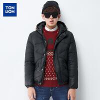 【2件1.5折】唐狮冬装新款羽绒服男连帽多色外套休闲韩版