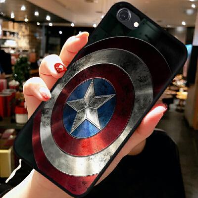 苹果7手机壳iPhone6S软硅胶plus全包5se防摔套队长盾牌男女款 iPhone 7-纯-队长盾