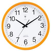 时尚静音钟表客厅卧室石英钟办公时钟挂表欧式简约创意挂钟 14英寸(直径35.5厘米)
