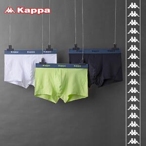 Kappa/卡帕(2条盒装)男士内裤科技面料吸汗速干运动科技平角裤KP8K06