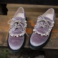 ins软妹萝莉复古洛丽塔ita原宿风系带低跟日系女鞋鞋子大头鞋 M=36垫 37码