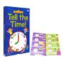 Pull-The-Tap Tell The Time 抽拉英语启蒙纸板书 儿童辨认时间学习 英文原版图书