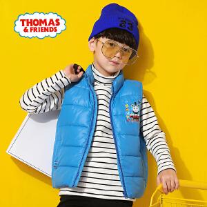 【8.20每满100减50】托马斯童装男童冬装冬季新款时尚三色加绒马甲摇粒绒背心