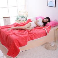 冬季毛毯双人单人加厚保暖法兰绒空调毯子珊瑚绒床单夏季毛巾被子