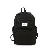帆布双肩包学生书包大容量色多口袋背包电脑包韩版潮男女