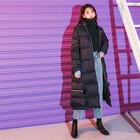 七格格羽绒服女中长款过膝2018新款潮韩版冬季加厚保暖鹅绒面包服