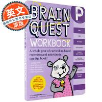 英文原版 Brain Quest Workbook Pre-K 智力开发系列:学龄前练习册 学前班 托班 儿童英语启蒙