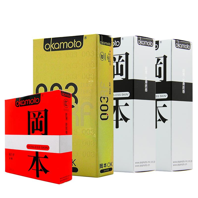 [当当自营]Okamoto冈本避孕套组合装003黄金6只+香草5只*2+激薄2只 安全套(进口)成人用品
