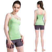 女夏款瑜伽服两件套装女运动健身背心含胸垫