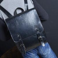 2018新款艾乖韩版潮包书包电脑包背包男士双肩包女旅行包时尚包休闲包男包 黑色