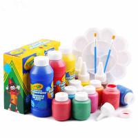 Crayola绘儿乐儿童颜料可水洗手指印画水彩颜料绘画套装