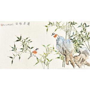 当代著名画家杨迪三尺整张花鸟画gh05097