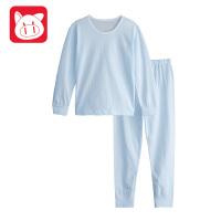 小猪班纳童装儿童睡衣长袖纯棉春装宝宝家居服套装小童内衣中性款