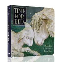进口英文原版绘本 百本好书推荐名家作品 Time For Bed 该睡觉了 儿童读本 温馨睡前读物 纸板书 吴敏兰书单