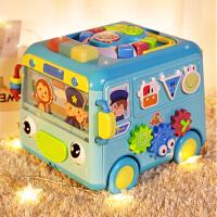 儿童玩具多功能多面体巴士宝宝拖拉玩具婴儿启蒙益智