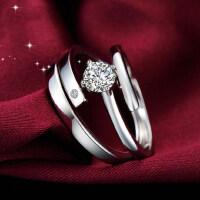 情侣戒指女925银饰品开口对戒男一对活口创意韩版饰品