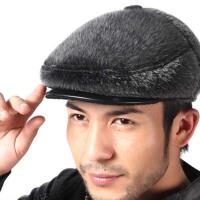 老人帽子男士冬季保暖鸭舌帽爸爸棉帽户外厚冬季男帽中老年老头帽