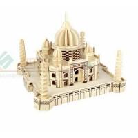 成人 儿童木制玩具建筑模型四联木质3D益智手工拼装玩具泰姬陵 立体拍图玩具