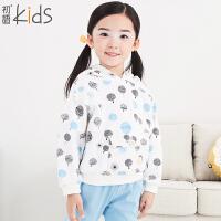 初语童装 新款 女童卫衣 套头长袖卫衣 T54052100*