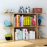 书架 简约现代家用多功能组合装饰简易小型置物架创意桌面收纳架客厅书房办公桌简易桌上成人文件整理架子储物柜家具用品