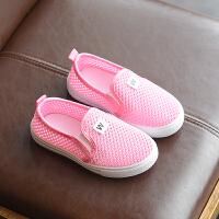 儿童运动鞋2018春夏季新款韩版女童板鞋软底男童鞋子休闲鞋透气潮 红色 DMXMD08