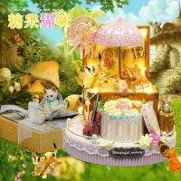 智趣屋diy小屋糖果猫咪手工制作房子模型拼装建筑送女生生日礼物