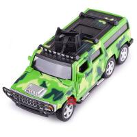 仿真六轮悍马军事战地合金车模型 儿童声光回力玩具汽车