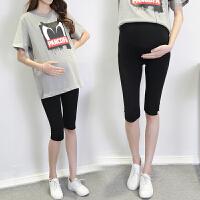 休闲托腹裤中裤春夏3-9个月孕妇打底裤夏季薄款夏天七分裤