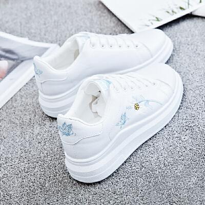 小白鞋女春季鞋子2019新款百搭韩版学生港风原宿板鞋潮鞋 精挑细选
