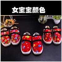 手工儿童棉鞋1-3-9岁女童牛筋底男童冬季保暖加绒加厚手工棉鞋