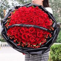 玫瑰花99朵真花红束生日真速递武汉北京上海深圳杭州同城花店送花