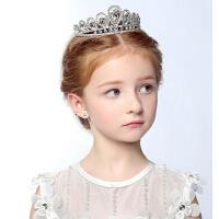 新品女孩公主王冠发箍 儿童水钻水晶皇冠 圣诞节女童头箍发饰