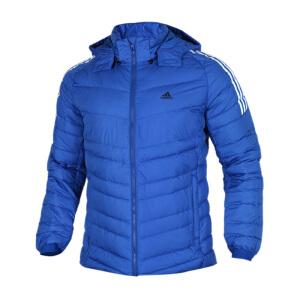 Adidas阿迪达斯男装 运动休闲保暖防风连帽羽绒服夹克外套 BQ8570