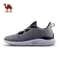 骆驼休闲鞋男鞋春新款时尚一体针织鞋低帮轻便跑步休闲鞋男