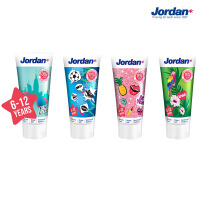 Jordan 挪威进口牙膏 防蛀防龋 儿童牙膏(混合水果味)图案随机