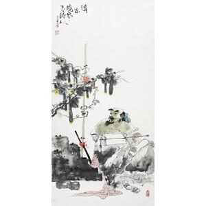 陕西省美术家协会会员 周弘光 《清凉境界》 49*100cm