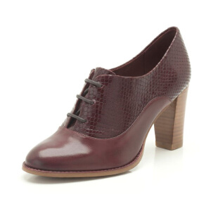 Clarks/其乐女鞋2017秋冬新款真皮高跟单鞋Alfresco Art专柜正品直邮