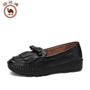 骆驼牌女鞋 新品 休闲舒适女士单鞋浅口平跟套脚低帮鞋