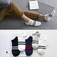 袜子男短袜薄款运动袜低帮浅口四季短筒纯色黑白色棉袜夏季船袜男 均码