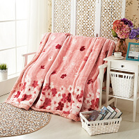 毛毯被子加厚冬季珊瑚绒双层盖毯结婚庆大红单双人毛毯床单