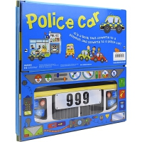 Convertible Police Car 变形大冒险车书 警车 可组装立体变形折叠玩具书 大开本地板书 儿童英语启